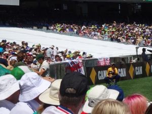 Mitch Johnson takes time between balls to sign countless signatures for fans young and old.