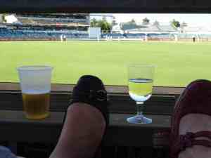 Sunny, 29 degrees, beer, wine, kicking back watching some cricket - could it get better?